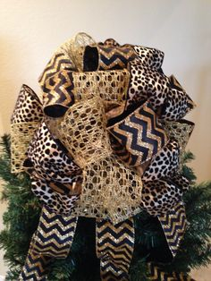 Gold Tree Topper Bow Christmas Bow Gift Bows By BasketsFromAtoZ | Gold And Black  Tree Topper Bow | Pinterest | Tree Toppers, Gift Bow And Glitter Ribbon