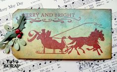 yaya scrap & more: christmas stamped tag.....http://yayascrap.blogspot.com/2013/12/una-tag-al-giorno.html