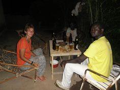 Petite fête chez Vincent avec Blaise et Philipe à Nouna, Burkina, 2012