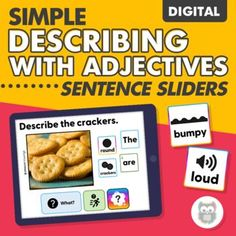 Target WH questions, describing, adjectives, formulating simple sentences, and early syntax with this digital, drag-and-drop, sentence building activity! Because it uses real pictures and age-appropriate, simple icons, it can be used with a wide variety of students, ages, and levels! You can use these with Boom cards, Google Slides, or PowerPoint. #describingactivities #adjectives #slp #speechtherapy Halloween Speech Therapy Activities, Sensory Activities For Autism, Speech Activities, Language Activities, Receptive Language, Speech And Language, What's An Adjective, Teaching Autistic Children, Figurative Language Activity