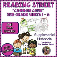 Reading Street 3rd Grade Units 1-6 Full Year Bundle 2013 : This bundle contains a variety of activities for each lesson in Units 1 - 6 from the third grade Reading Street Common Core 2013. These activities are designed to teach, re-teach, practice, or assess the lessons taught in these units. All of the lessons from units 1 - 6 are included in this bundle. $