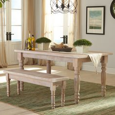 "Valerie 63"" Solid Wood Dining Table"