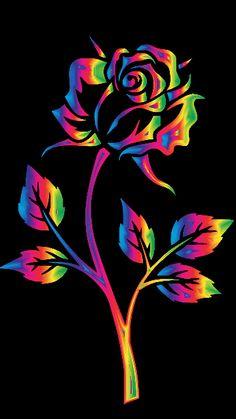 By Artist Unknown. Flower Phone Wallpaper, Neon Wallpaper, Butterfly Wallpaper, Cute Wallpaper Backgrounds, Colorful Wallpaper, Flower Wallpaper, Beautiful Flowers Wallpapers, Beautiful Nature Wallpaper, Pretty Wallpapers