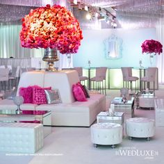 Chic Party Decor - white / gold / pops of color
