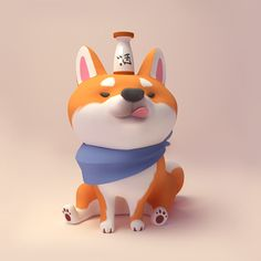 ArtStation - Shiba Inu Sake , Laura chanYou can find Vinyl toys and more on our website. Vinyl Toys, Vinyl Art, Shiba Inu, 3d Character, Character Concept, Concept Art, Character Illustration, Illustration Art, Art Illustrations