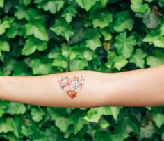 We love these temporary tattoos by Tattly and Rifle Paper Co.