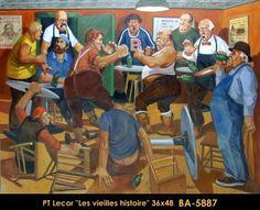 original oil painting on canevas by Paul Tex Lecor Tex Lecor, Art Gallery, Bar Scene, Z Arts, Canadian Artists, Original Paintings, Oil, Image, Funky Art