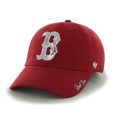4cb2c9265cb Boston Red Sox Women s 47 Brand Sparkle Red Adjustable Hat
