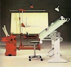 Bieffe Classico con Tecnigrafo Zucor Export. Boby Trolley Joe Colombo.