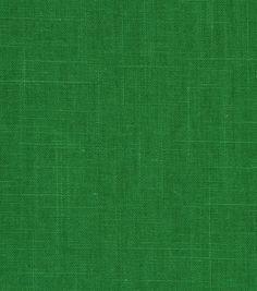 Upholstery Fabric- Robert Allen Linen Slub Malachite