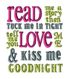 Read Me a story - custom design for AMP by LLHembroidery on Etsy
