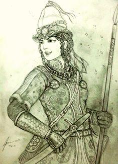 Kipchak ( Turkic, of the Eurasian steppes) warrior