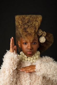 Baroque-Inspired Portraits Celebrate the Beauty of Black Girls' Natural Hair  In their series Afro Art, CreativeSoul Photo captures striking portraits of girls who are rocking their natural hair.