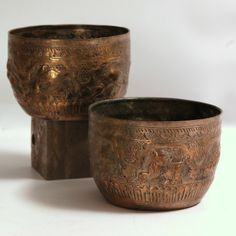 Pair Indian Silver Bowls from Seaver & McLellan Antiques for $95 on Square Market