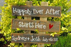 CUSTOM ORDER Large Wedding Sign 3 rows of wood by AllMyGoodness, $44.00