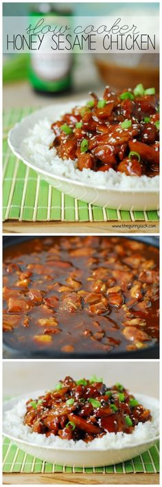 Slow Cooker Honey Sesame Chicken Recipe plus 49 of the most pinned crock pot recipes