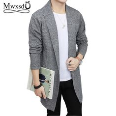 Mwxsd Brand men s soft cotton middle long cardigan men pull homme knitted warm  sweater winter autumn male cardigan hombre cloth Review 833b218c8ba9