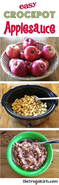 Easy Crockpot Applesauce Recipe! ~ from TheFrugalGirls.com ~ this Homemade Slow Cooker Applesauce tastes SO good, and will make your home smell heavenly! #slowcooker #recipes #thefrugalgirls