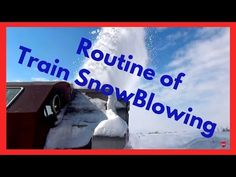 Basic Routine of Train Snow Blowing - Train Snow Plow - Rotary Snow Plow Blower Snow Plow, Rotary, Red Bull, Energy Drinks, Routine, Train, Strollers