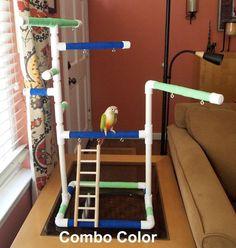 CHOOSE COLOR Tabletop or Cagetop PVC Bird Gym door FeatheredFunn