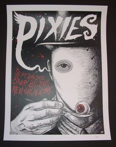 Pixies New York Brandon Heart Tour Poster Bowery Ballroom S/N Artist Edition signed numbered  2013