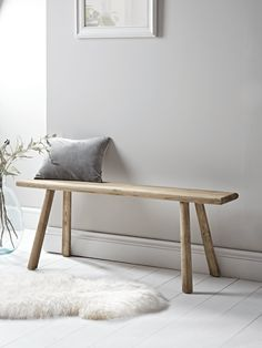 Handcrafted Teak Bench - Indoor Benches - Wooden, Upholstered & Storage - Luxury Seating - Luxury Home Furniture Oak Bench, Indoor Seating, Oak Furniture, Oak Furniture Land, Modern Home Furniture, Luxury Home Furniture, Wooden Bench Seat, Furniture, Teak Bench