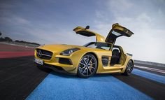 """""""You can throw all sorts of clichés around to describe the sound, but it's such a guttural roar that you'll never get close..."""" See what else the boys over at Top Gear had to say about their first drive in the SLS AMG Coupé Black Series. http://www.topgear.com/uk/car-news/mercedes-benz-sls-black-series-first-drive-top-gear-2013-03-01?utm_source=rss"""