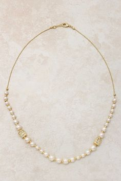 Crystal Pave Pearl Necklace