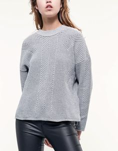 Pearl knit jersey - Knitwear   Stradivarius Other Countries