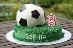 How to Make a Soccer Ball Cake