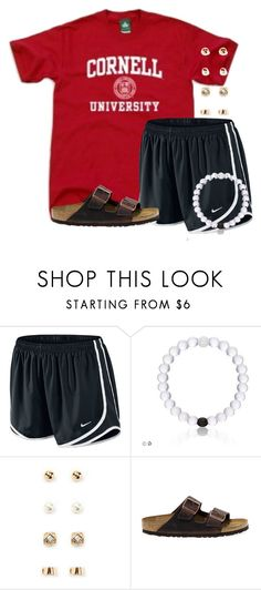 """Still have homework to do:("" by flroasburn ❤ liked on Polyvore featuring NIKE, Forever 21 and Birkenstock"