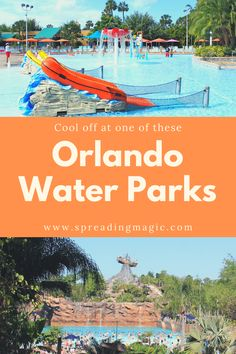 Central Florida is warm almost year round so it's the perfect place to plan a water park visit! Whether you call central Florida home or are vacationing at one of their world class theme parks, you can always cool off at these Orlando water parks. Disney World Water Parks, Disney World Resorts, Walt Disney World, Orlando Parks, Orlando Resorts, Orlando Florida, Disney Destinations, Disney Vacations, Travel With Kids
