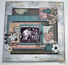 Inspiration for vintage scrapbook layout