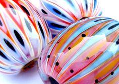MICMAC Polygon lampwork Glass beads by Carla di Francesco www.carlee.de