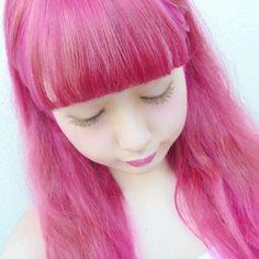 @ichigofashion - ピンクヘアー #マニパニ#派手髪#ピンク#セルフカラー#セルカ#いちご#フェアリー - EnjoyGram