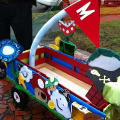 Mario Brothers kids Mardi Gras  float