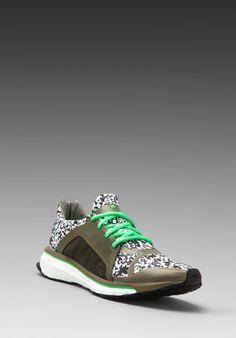 adidas by Stella McCartney Trochilus Boost Sneaker in Lizard/Green Zest/Running White