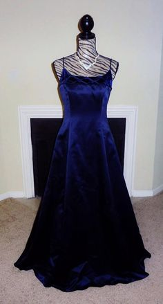 Betsy and Adam Long Blue Vintage Ball Gown or Evening Gown. Designed, Made and Created in the USA with a Jaslene Label.  by VintageByMcCormick