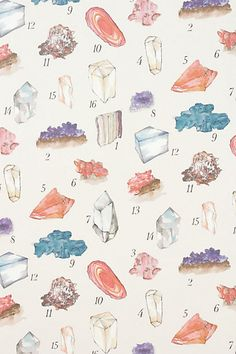 mineral study wallpaper | anthropologie
