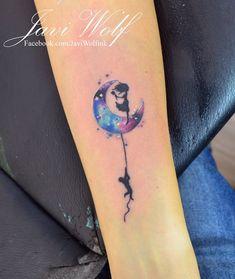 Luna con siluetas estilo Acuarelas por Javi Wolf                              …