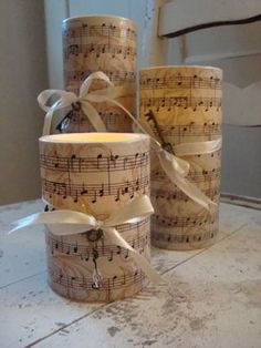 Like music, make music candle holder for your own.