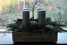 Årets adventsdekoration og krans. Jul