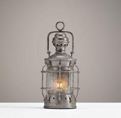 Mini Vintage Lantern Pewter | Table Lighting | Restoration Hardware Baby & Child