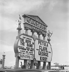 The Caesar's Palace headliner marquee (1969)
