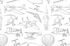 Aviation Icons Set pattern by@Graphicsauthor