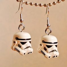 Star Wars LEGO Storm Trooper silver earrings  Find more cool teen program ideas at www.the4yablog.com