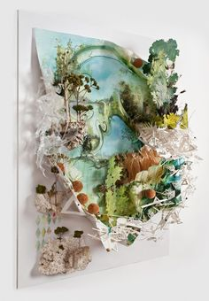 Gregory Euclide (featured in Hi-Fructose Vol. creates poetry from throw-away materials. Dyed hair, plastic bags, sage, foam and fishing line dance and swirl together with unusual harmony — desp… Art Day, Creative, Slow Art, Fabric Art, Art, Collage Art, Textile Art, Paper Art, Landscape Art