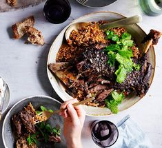Eight-hour lamb shoulder with Israeli couscous and labne recipe | Gourmet Traveller