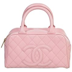 Pre-owned Pink Chanel Caviar Tote ($1,600) ❤ liked on Polyvore featuring bags, handbags, tote bags, pink, pink tote bags, pre owned purses, pink handbags, pre owned handbags and chanel tote bag