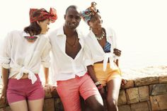 Women #shweshwe short €30 Men linen short €40 Women linen short €40